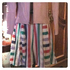 Eva Franco Crochet Skirt